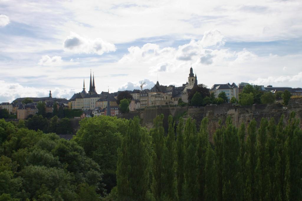 Luxemburg vom Clausenviadukt aus gesehen