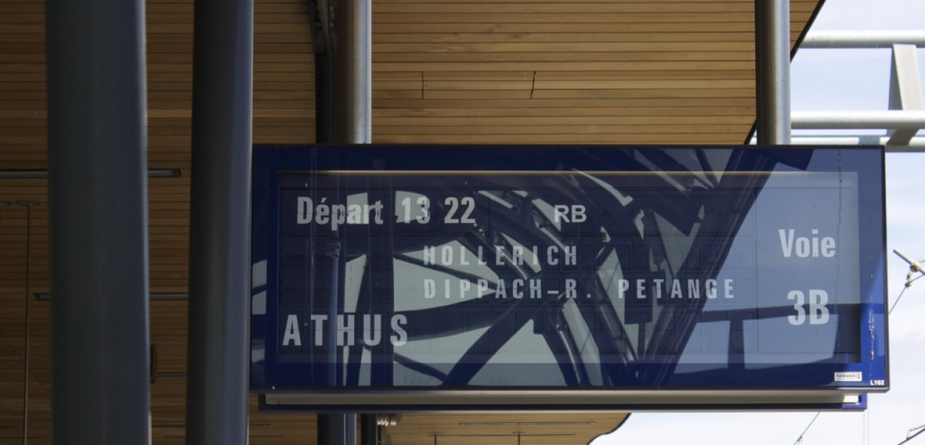 13:22 Uhr nach Athus über Pétange