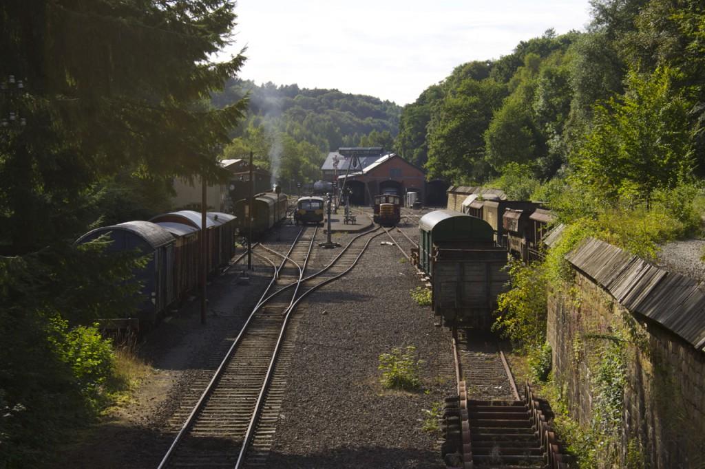 Überblick über den Bahnhof Fond-de-Gras