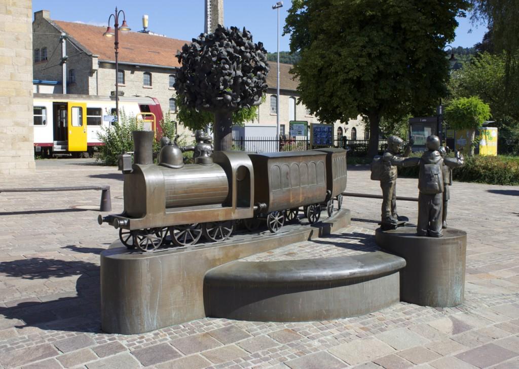 Der Bahnhofsvorplatz in Diekirch
