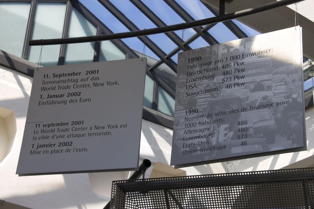 Infotafel im Fahrzeugmuseum Diekirch
