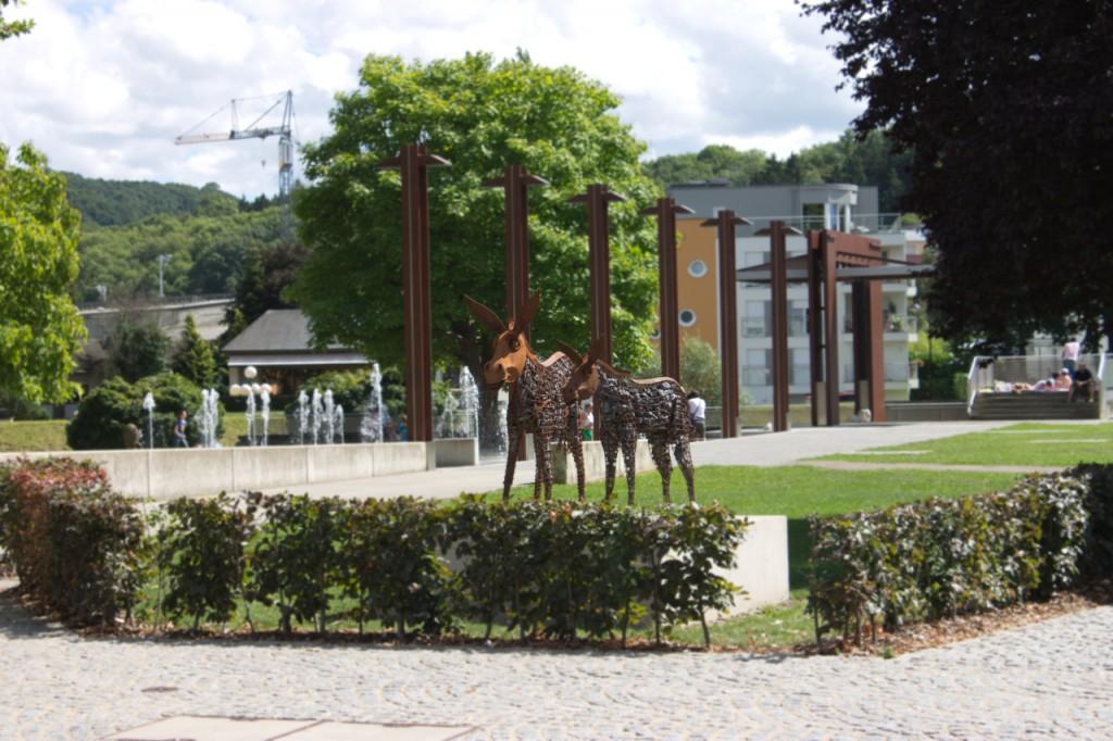 Park mit Eseln in Diekirch