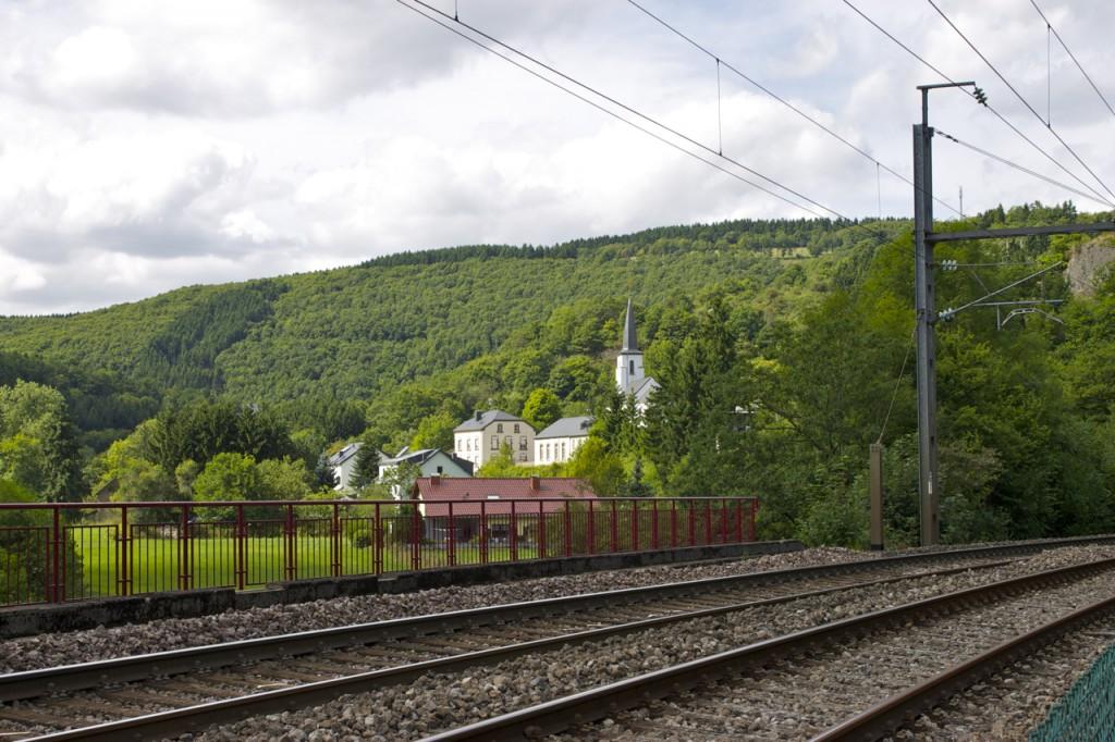 Kautenbach vom Bahnhof aus gesehen