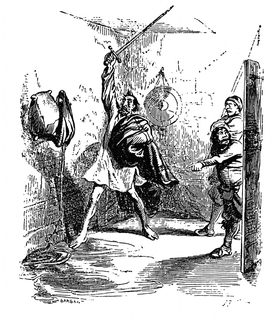 Don Quijotes Kampf mit den Rotweinschläuchen
