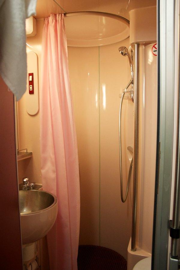 Dusche in der Gran Clase
