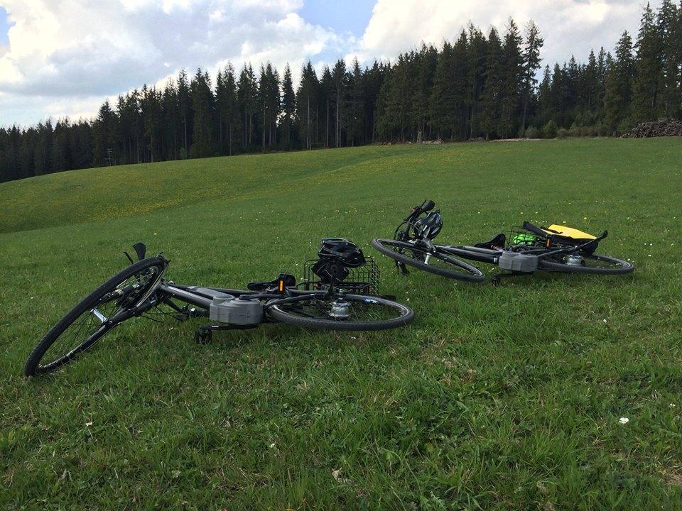 Unsere E-Bikes ruhen sich aus (in Linach)