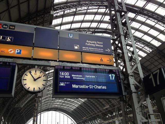 TGV nach Marseille fährt gleich ab