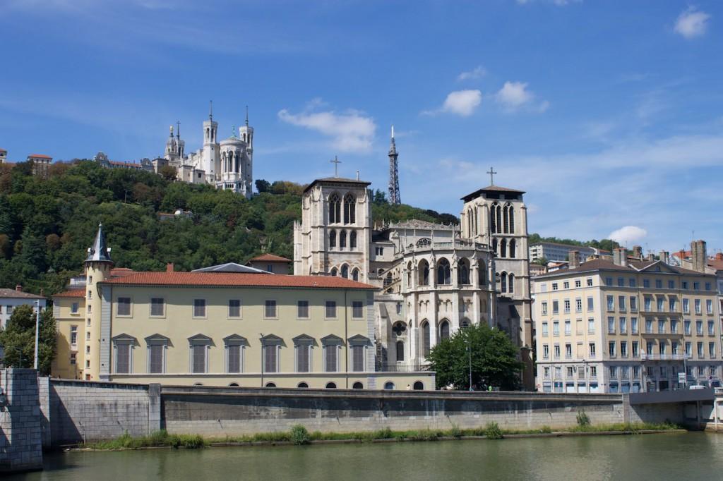Blick von der Pont Bonarparte auf Vieux Lyon