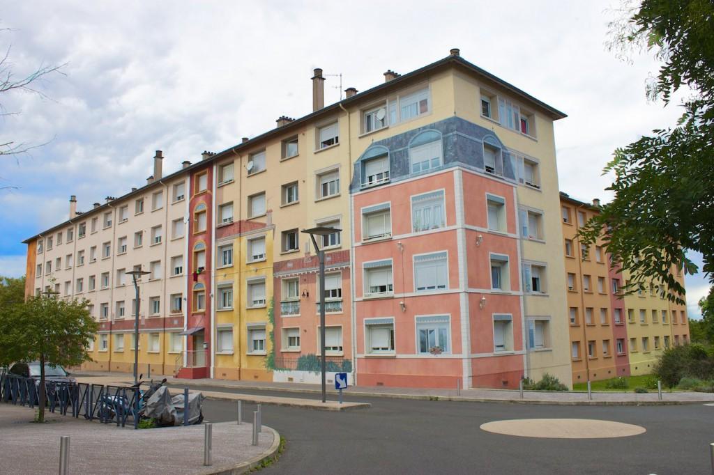 Fresques de la Sarra – ganz rechts ohne künstlerische Gestaltung