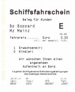 Schiffsfahrschein für 0 Euro