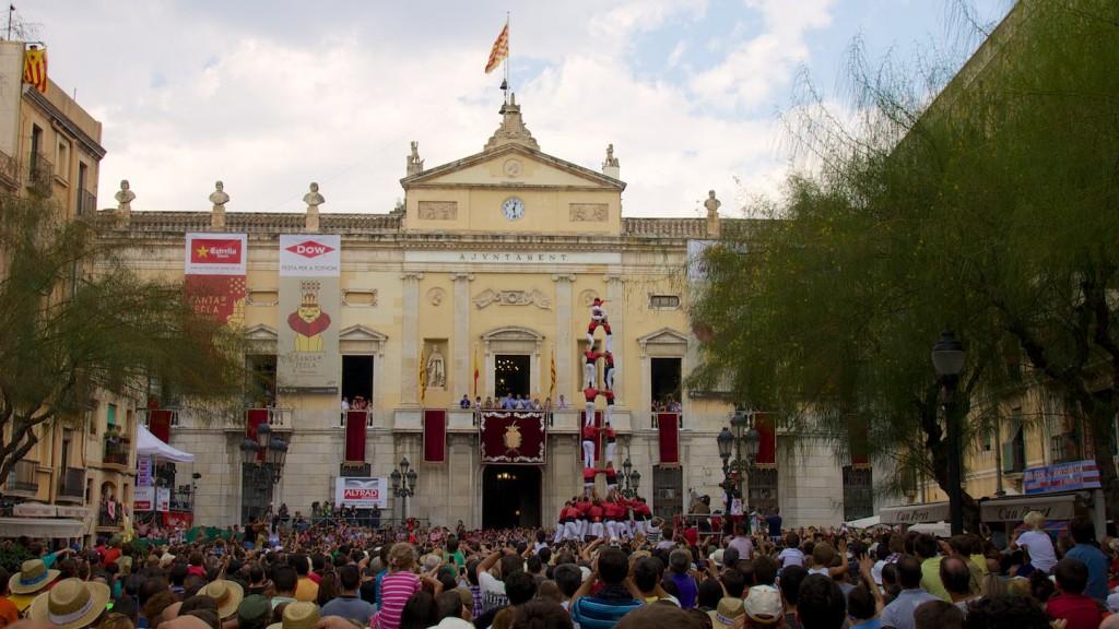 2de9f der Colla Vella de Valls (auf dem Plaça de la Font in Tarragona)
