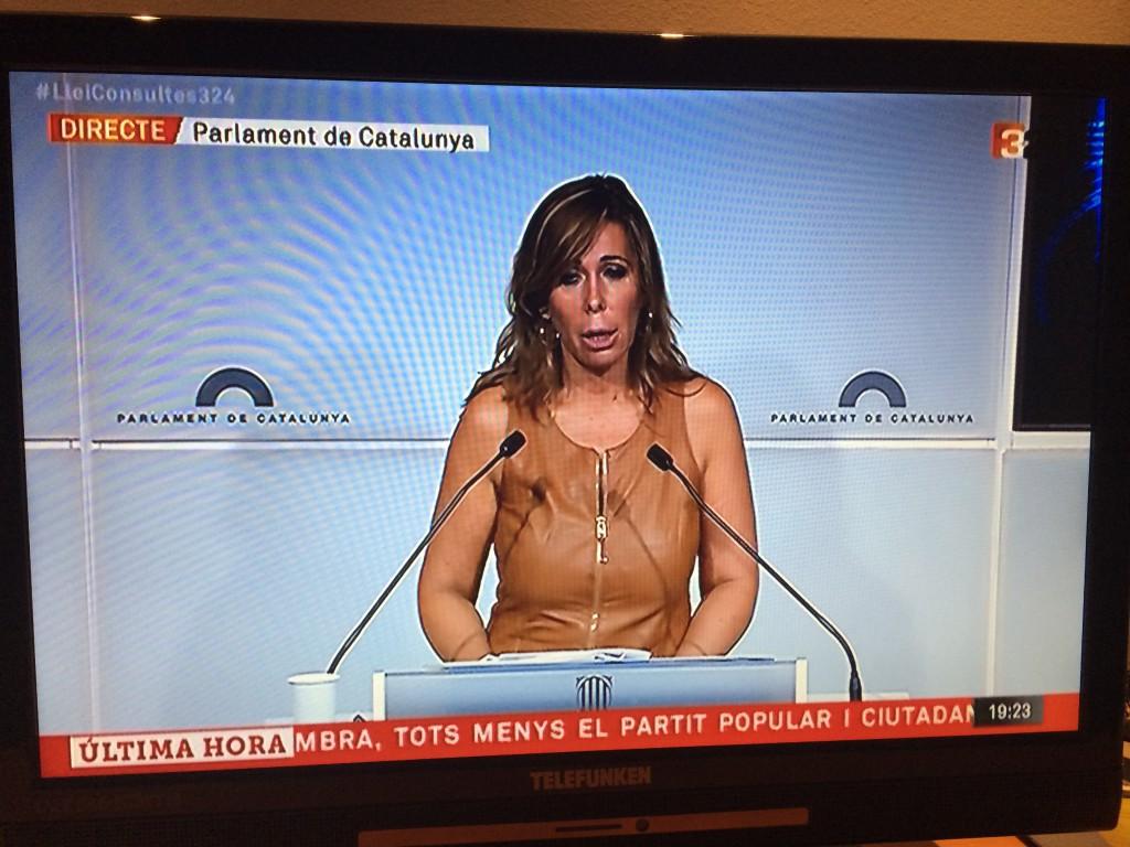 """""""Screenshot"""" von Alicia Sánchez-Camacho aus dem katalnischen Fernsehen"""