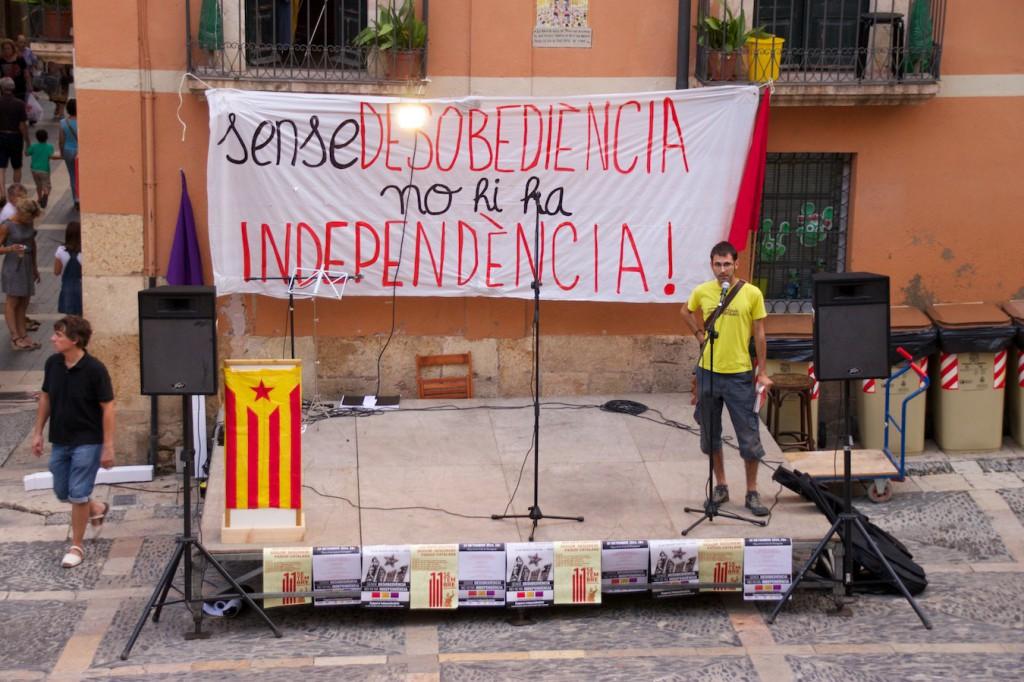 Kundgebung von Unabhängigkeitsbefürwortern (am 10. September in Tarragona)