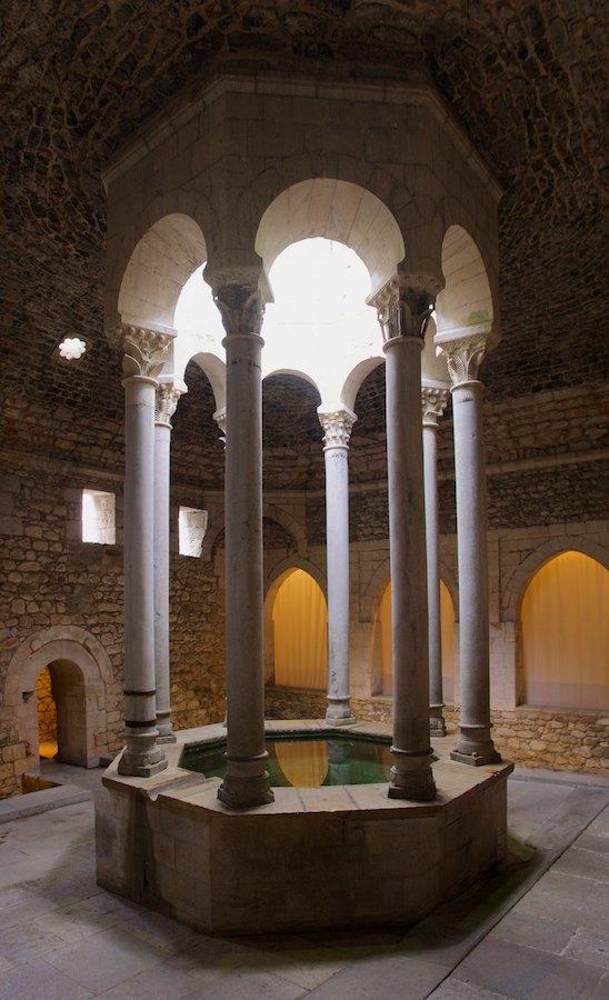 Frigidarium im arabischen Bad von Girona