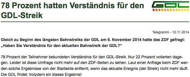 Quelle: Webseite der GDL
