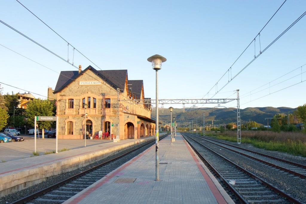 Bahnhof Puigcerdà von Norden