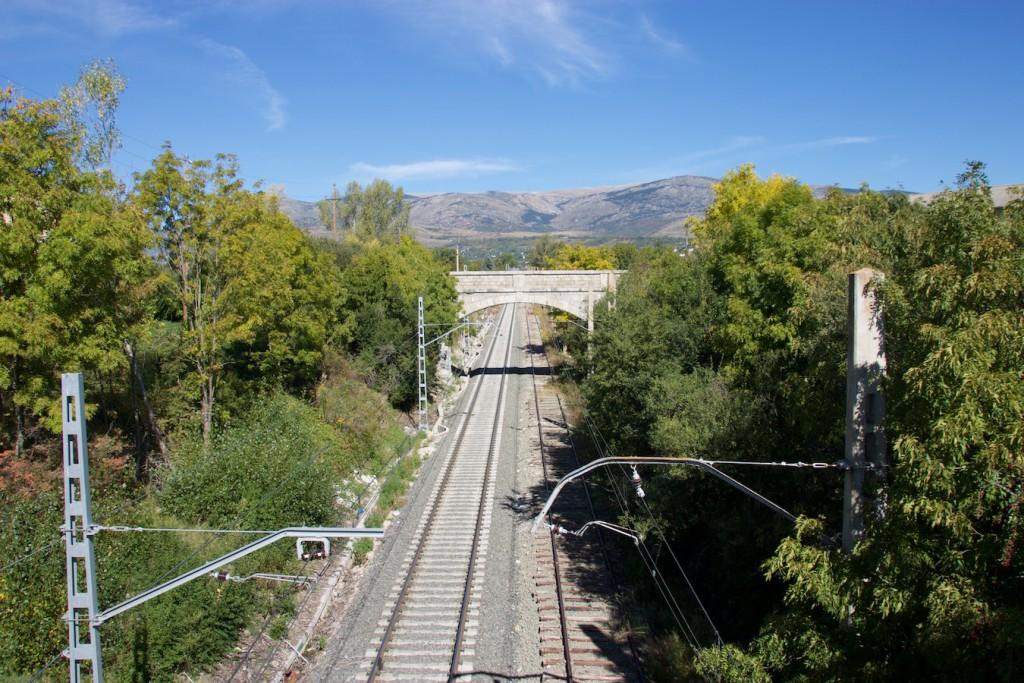 Blick auf die Strecke nach La Tour de Carol