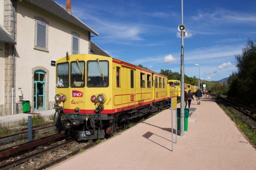 Tren groc in Font-Romeu