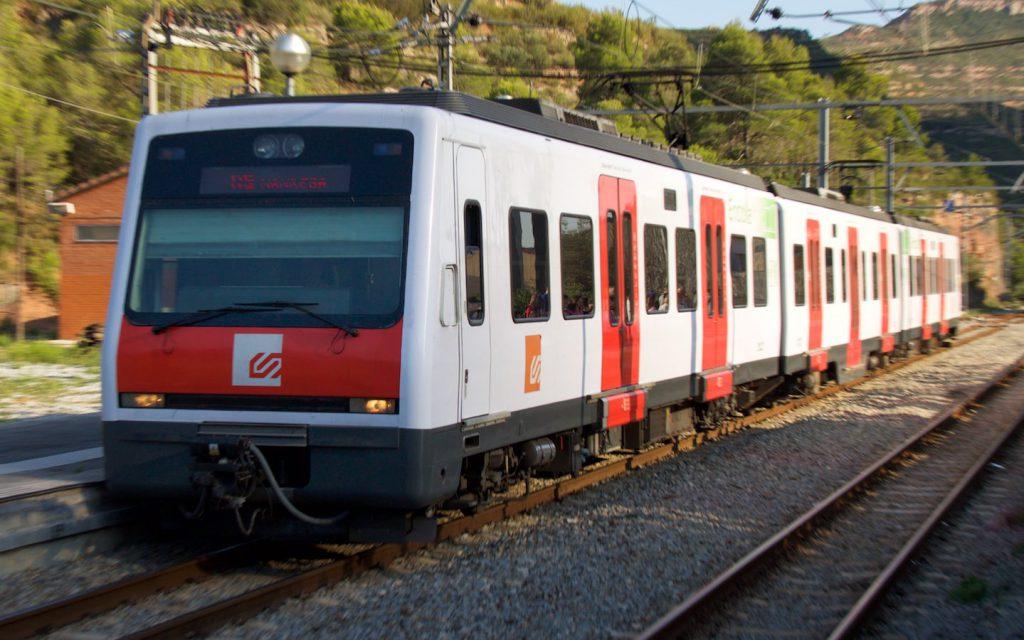 FGC-Reihe 213 in Monistrol de Montserrat