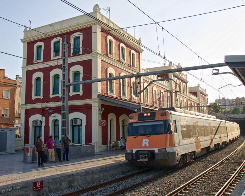 Bahnhof Martorell mit Rodalies-Triebwagen