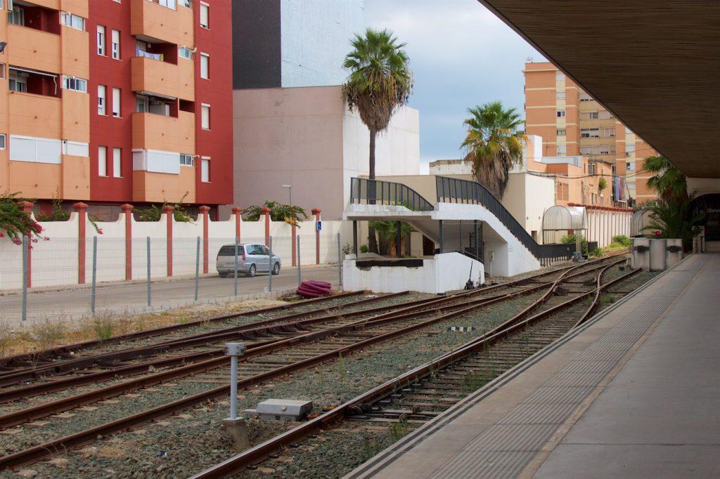 Rampe für Autozüge in Algeciras