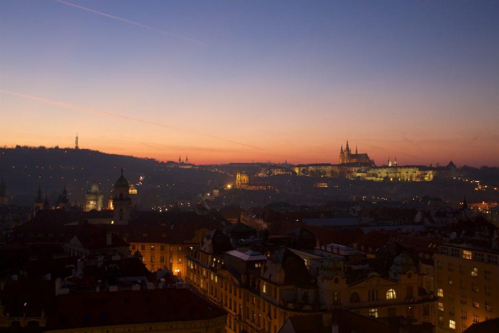 Blick vom Rathausturm zur Kleinseite