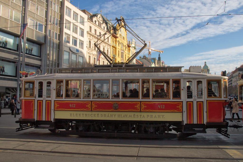 Historische Tram am Wenzelsplatz